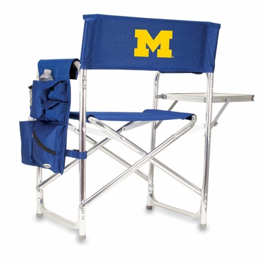 Michigan Embroidered Sports Chair (Navy)