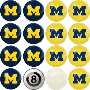 Michigan Home and Away Complete Billiard Ball Set