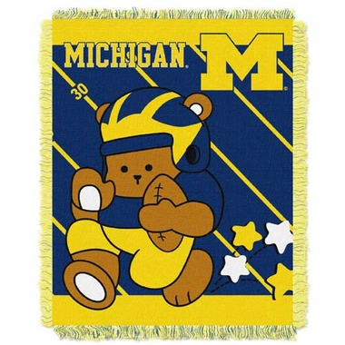 Michigan Jacquard BABY Throw Blanket