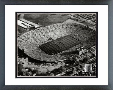 Michigan Michigan Stadium - 1955 16x20 Framed and Double-Matted Photo