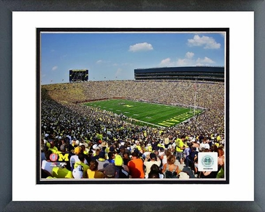Michigan Michigan Stadium University of Michigan Wolverines 2011 16x20 Framed and Double-Matted Photo