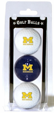 Michigan Set of 3 Multicolor Golf Balls