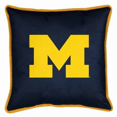 Michigan SIDELINES Jersey Material Toss Pillow