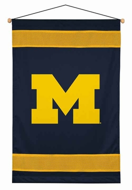 Michigan SIDELINES Jersey Material Wallhanging