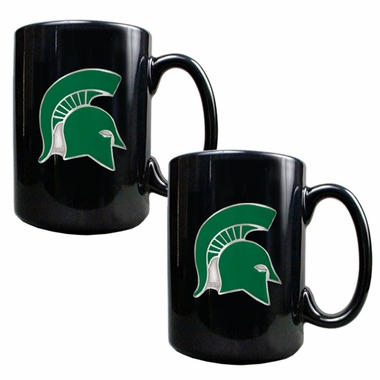 Michigan State 2 Piece Coffee Mug Set