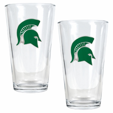 Michigan State 2 Piece Pint Glass Set