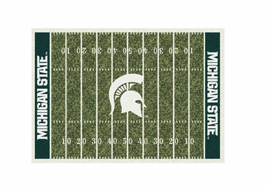 "Michigan State 3'10"" x 5'4"" Premium Field Rug"
