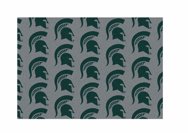 "Michigan State 3'10"" x 5'4"" Premium Pattern Rug"