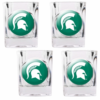 Michigan State 4 Piece Shot Glass Set