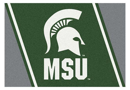 Michigan State 5 39 4 X 7 39 8 Premium Spirit Rug