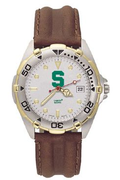 Michigan State All Star Mens (Leather Band) Watch