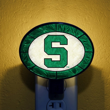 Michigan State Art Glass Night Light