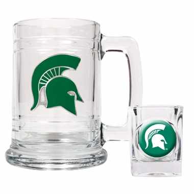 Michigan State Boilermaker Set