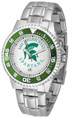 Michigan State Competitor Men's Steel Band Watch