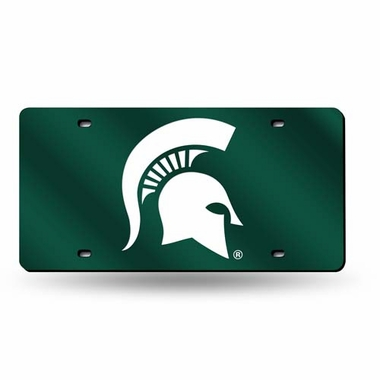 Michigan State Deluxe Mirrored Laser Cut License Plate