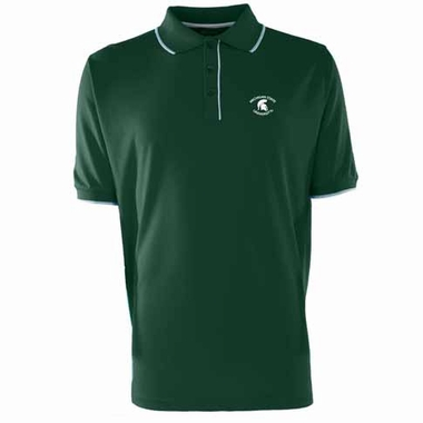 Michigan State Mens Elite Polo Shirt (Color: Green)