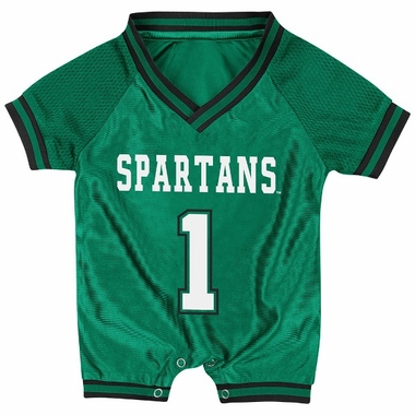 Michigan State Infant Pounce Football Jersey Onesie