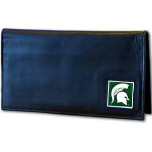 Michigan State Leather Checkbook Cover (F)
