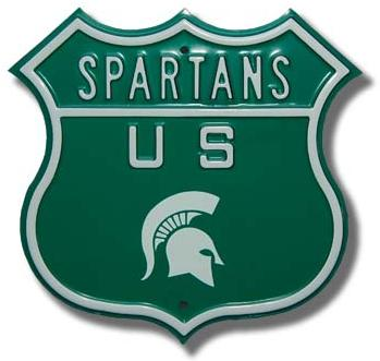 Michigan State Logo Route Sign