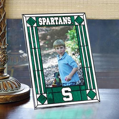 Michigan State Portrait Art Glass Picture Frame
