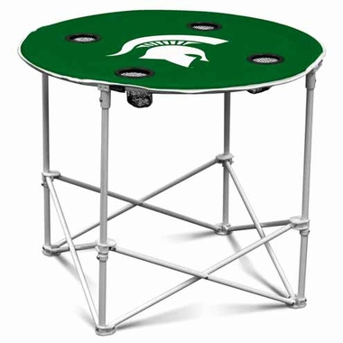 Michigan State Round Tailgate Table
