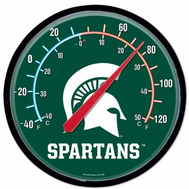 Michigan State Round Wall Thermometer