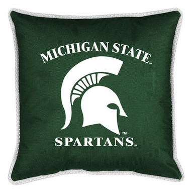 Michigan State SIDELINES Jersey Material Toss Pillow