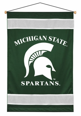 Michigan State SIDELINES Jersey Material Wallhanging