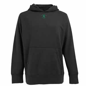 Michigan State Mens Signature Hooded Sweatshirt (Color: Black) - Large