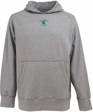 Michigan State Mens Signature Hooded Sweatshirt (Color: Silver)