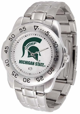 Michigan State Sport Men's Steel Band Watch