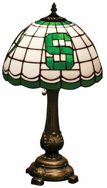 Michigan State Stained Glass Table Lamp