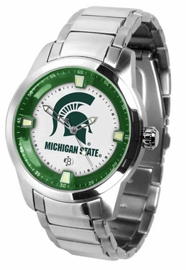 Michigan State Titan Men's Steel Watch
