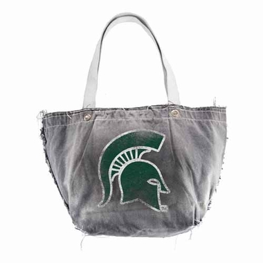 Michigan State Vintage Tote (Black)