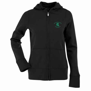 Michigan State Womens Zip Front Hoody Sweatshirt (Color: Gold)