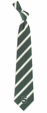 Michigan State Woven Poly 1 Necktie