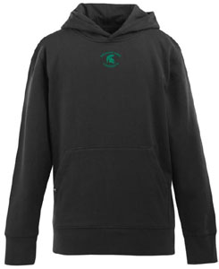 Michigan State YOUTH Boys Signature Hooded Sweatshirt (Color: Black) - Small