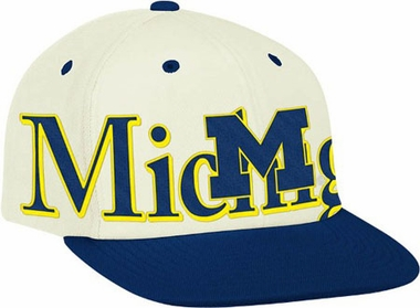 Michigan Team Name and Logo Snapback Hat