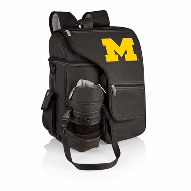 Michigan Turismo Embroidered Backpack (Black)