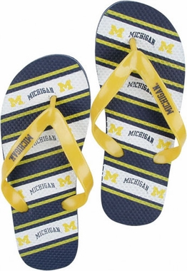 Michigan Unisex Striped Flip Flops