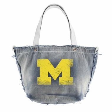 Michigan Vintage Tote (Denim)