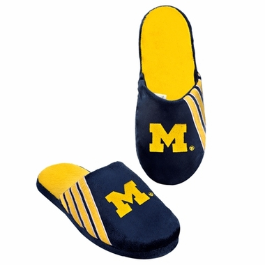 Michigan Wolverines 2012 Team Stripe Logo Slippers