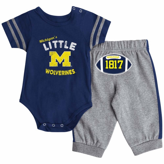 Michigan Wolverines Infant Hut esie & Pant Outfit Set