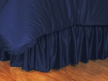Midnight Blue Jersey Material Bedskirt