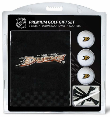 Anaheim Ducks Embroidered Towel Golf Gift Set