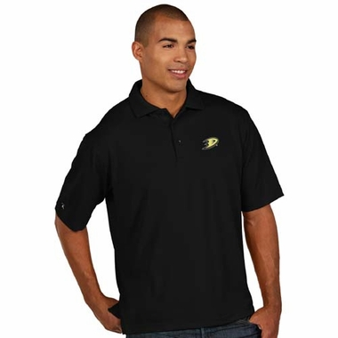Anaheim Ducks Mens Pique Xtra Lite Polo Shirt (Color: Black)