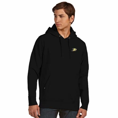 Anaheim Ducks Mens Signature Hooded Sweatshirt (Color: Black)