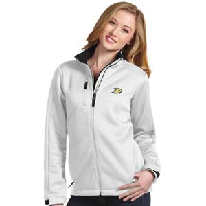 Anaheim Ducks Womens Traverse Jacket (Color: White) - Medium