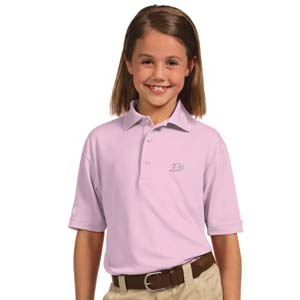 Anaheim Ducks YOUTH Unisex Pique Polo Shirt (Color: Pink) - Small