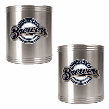 Milwaukee Brewers 2 Can Holder Set